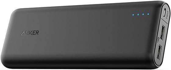 Anker PowerCore 20100 (20100mAh 2ポート 超大容量 モバイルバッテリー) iPhone&Android対応 マット仕上げ (ブラック)