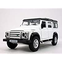 13cm Land Rover Defender Station Waggon Scale Diecast Metal Model - White