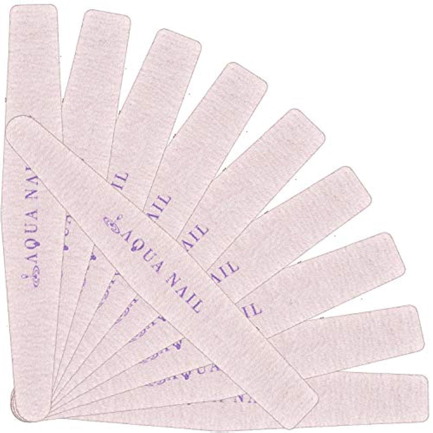 ヒロイン干し草バンクネイルファイル エメリーボード <ダイヤモンド型>10本セット(180/180)G
