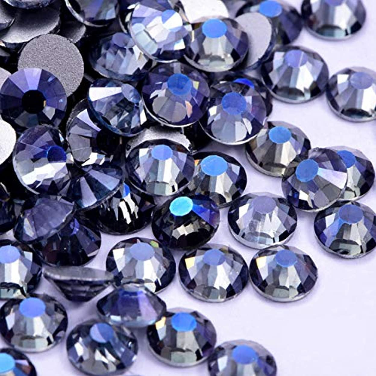 ペリスコープ富豪予測子【ラインストーン77】高品質ガラス製ラインストーン 色/サイズ選択可 SS3~SS50 (パープルゴースト, SS20:約4.7mm(約120粒))