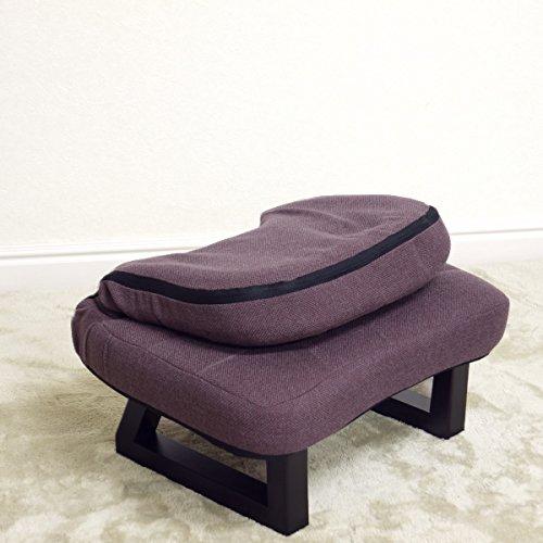 背もたれ付き正座椅子【特価】あずきブラウン数量限定色 送料無料 (北海道・沖縄・離島を除く) 折りたたみ 折り畳み 正座いすローチェアー