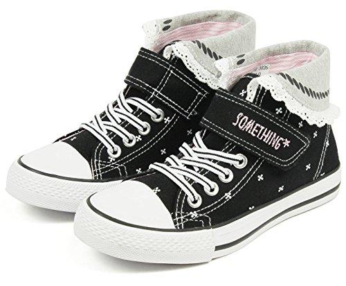 (サムシング エドウィン) SOMETHING EDWIN 子供靴 ハイカットスニーカー キッズ 女...