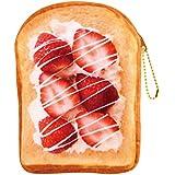 【パンポーチ】【まるでパンみたいな】マルチポーチ (苺ホイップ)