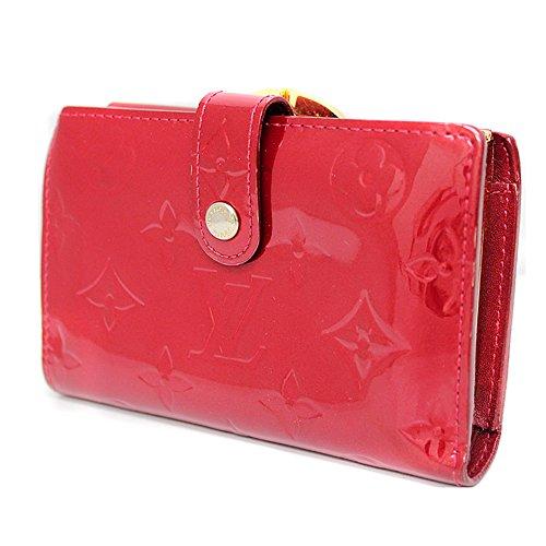LOUISVUITTON(ルイヴィトン)ヴェルニ ポルトフォイユヴィエノワM93528 二つ折りがま口財布 ポムダムール レディースレッド 赤色 がま口サイフ(中古)