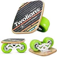 「TWOLIONS正規品」 進化版 ドリフトスケート ミニ スケボー 分体式 スケートボード 木製板 もみじの木 スチールフレーム スケート専用608ベアリング 滑り止め 設計 初心者向け 4種類色があり ウィール非発光 専用工具付き インラインスケート ローラースケート エスボードのようなトリックも可能