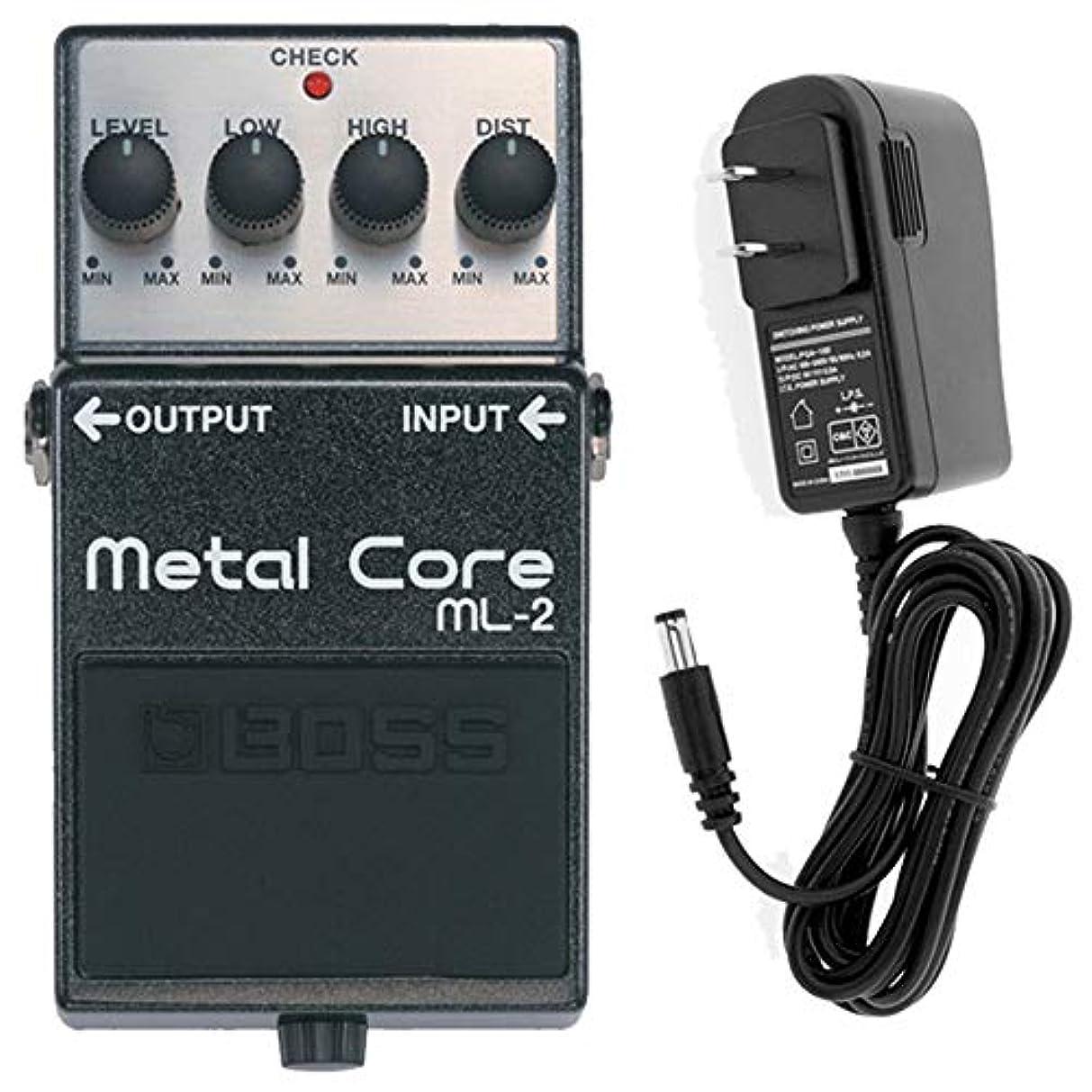 クラッシュ粘り強い資本【ACアダプターセット】 Boss(ボス) Metal Core ML-2 ハイゲインディストーション ギターエフェクター