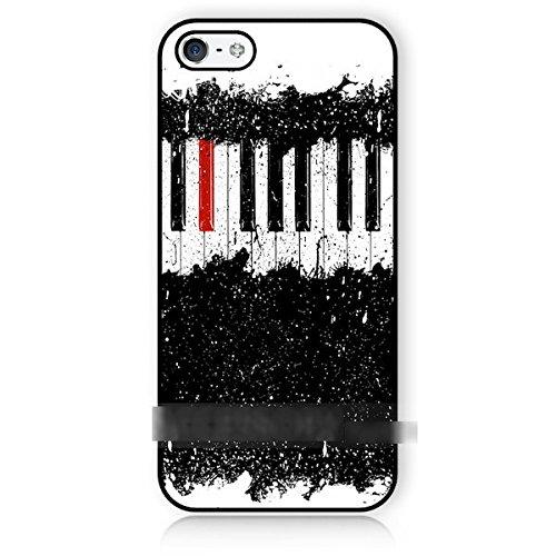 iPhone5 5S5CSEピアノ 鍵盤 アートケース保護フィルム付 キーボード ノーブランド品