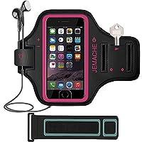 iPhone 7/ 7Plusアームバンド、jemache指紋タッチサポートジムランニングワークアウト/エクササイズアームバンドケースiPhone 6/ 6s / 7/ 7Plus withキー/カードホルダー