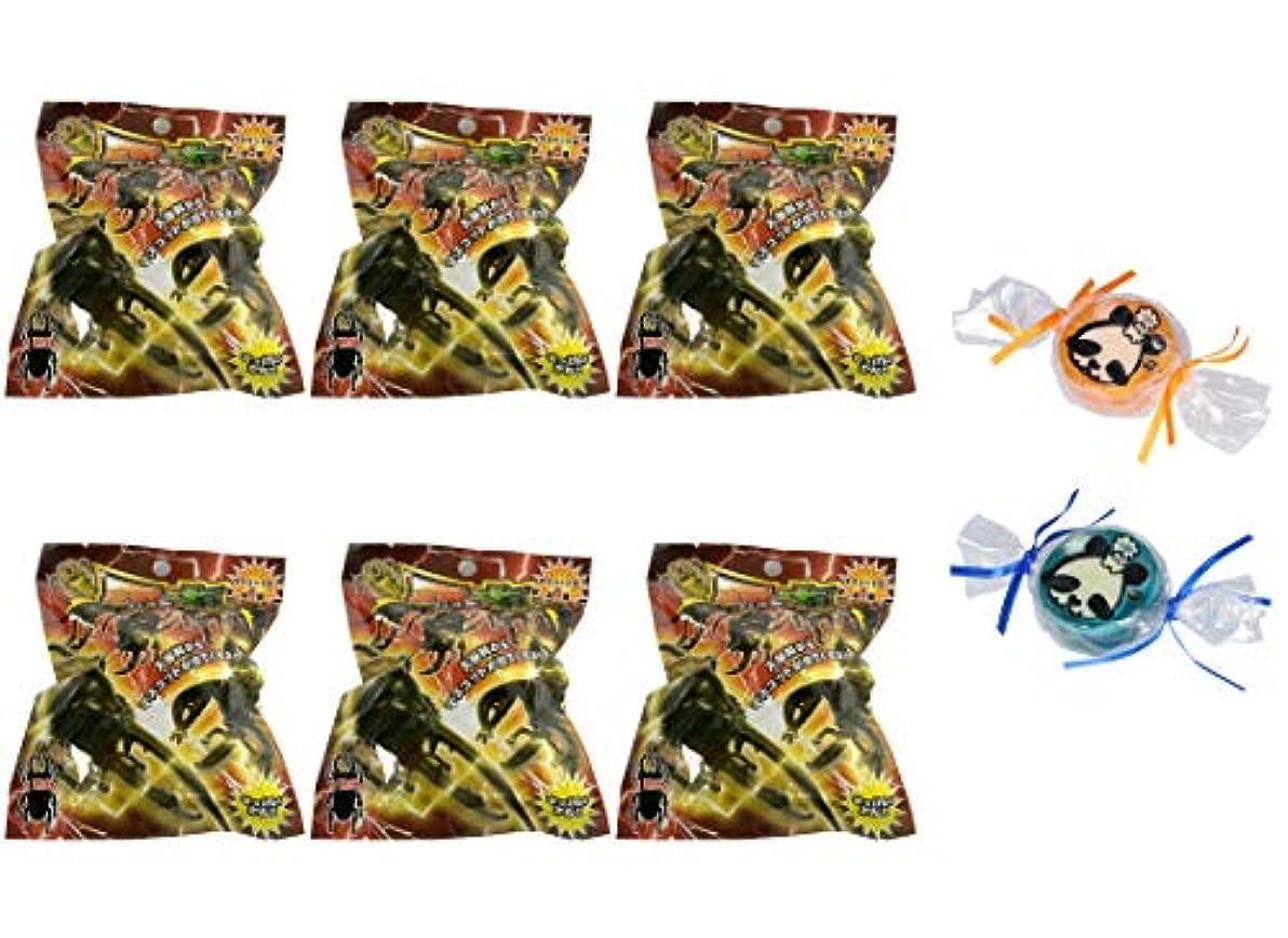 許される粉砕する寝室【6個セット+ミニ石けん付】サンタン 昆虫 バスボール2 せっけんの香り【パンダ石けん2個付】