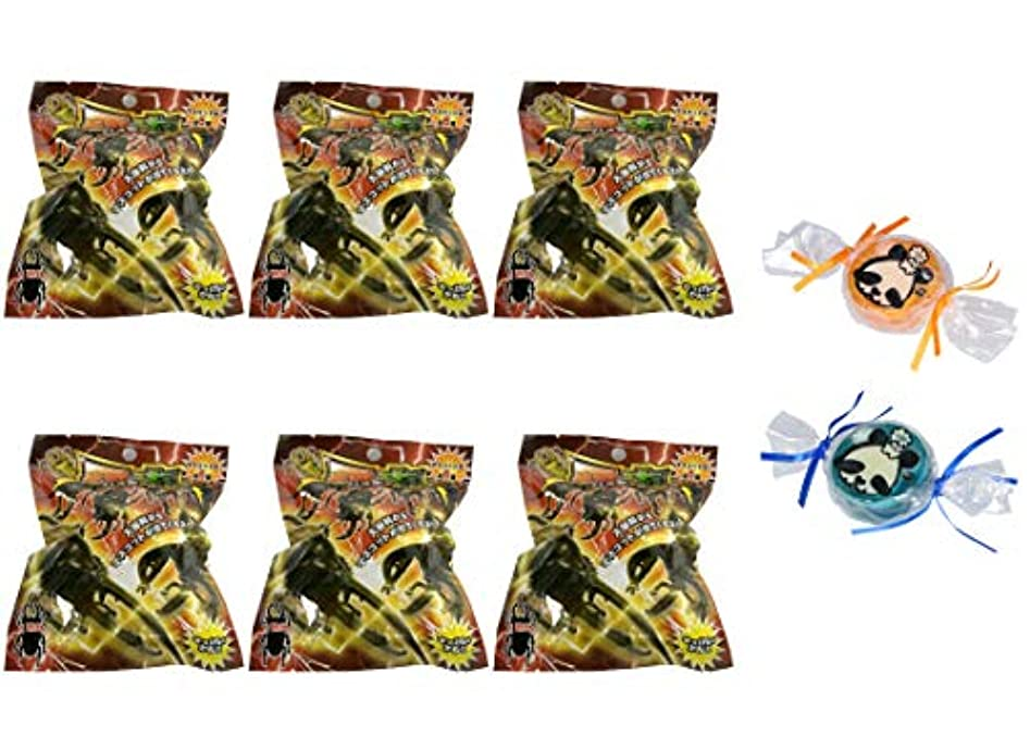 説明する酸オレンジ【6個セット+ミニ石けん付】サンタン 昆虫 バスボール2 せっけんの香り【パンダ石けん2個付】