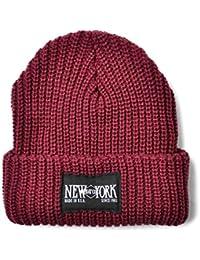 New York Hat 4581 CHUNKY CUFF ニットキャップ New York Hatパッチ