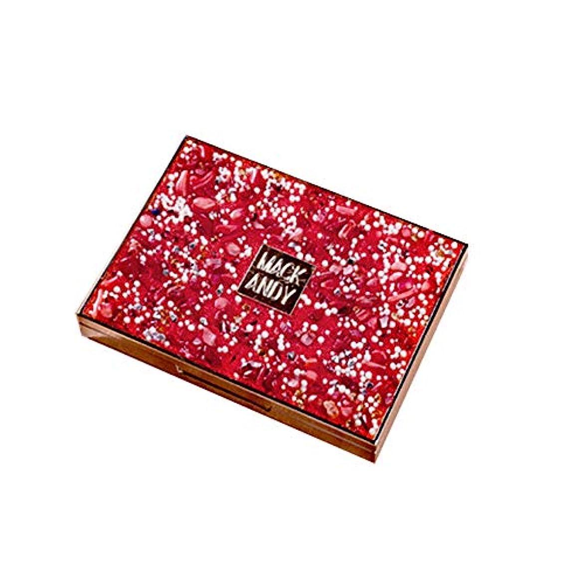 昼食もし砦アイシャドウ 8色 ブラシ付き スパンコール 女子力 パウダー パールアイシャドウ メイクパレット アイシャドー メイクパレット グリッター 女性 日常 日韓風 携帯便利 極め細かいアイメイクhuajuan (RD)