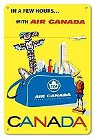 22cm x 30cmヴィンテージハワイアンティンサイン - カナダ - エア・カナダ、TCA - ビンテージな航空会社のポスター によって作成された ロベルト フロレアニ c.1960