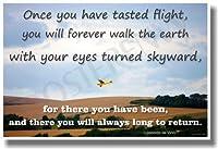Once You Have Tasted Flight。。。–Leonardo da Vinci Motivational Poster