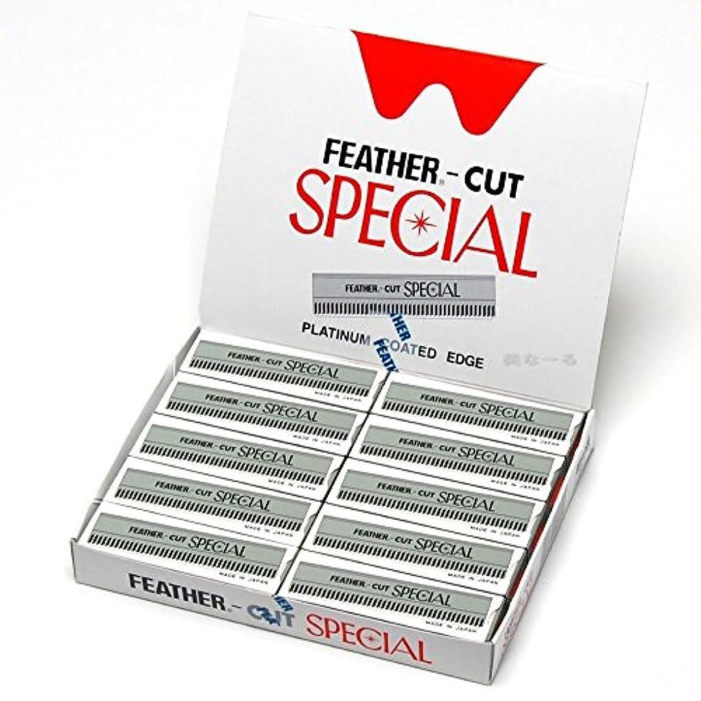 ペニー増強する普及フェザーカットスペシャル 替刃 10枚入り×10個