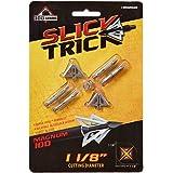 スリックTrick Magnum 100 GR矢尻(4パック)、1 – 1 / 8インチ、ブラックby Slick Trick