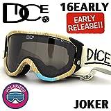 DICE ダイス《16EARLYモデル》◆16JOK-2◆ JOKER / ジョーカー《 WOODY 》BK M Pola Gray 安心の日本正規品スノボ スノーボード ゴーグル goggle メンズ レディース joker 偏光レンズ