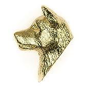 アキタ(秋田犬) イギリス製 22ctゴールドメッキ アート ドッグ ピンバッジ コレクション