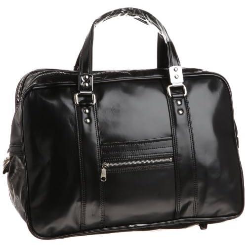 【木和田】カブロンY付銀行ボストンバッグ42cm 鞄の聖地兵庫県豊岡市製 1470 01 (ブラック)