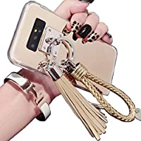 Galaxy Note4 Shiny Hand Sling ケース, Very Light Slim Elegent Reflective Mirror Style, WEIFA 2018 Newest Super Cool Personal CellPhone カバー ケース For Samsung Galaxy Note 4 Gold