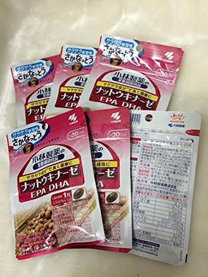 エッセイ果てしない飼料小林製薬の栄養補助食品 ナットウキナーゼ?DHA?EPA 30粒(約30日分) 6セット
