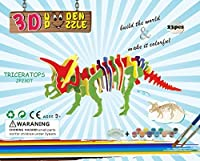 Triceratops 3dパズルジグソーパズル子供、大人用、子供DIYモデルペイントおもちゃ、子供のギフト、Brain Teaser木製パズル、。