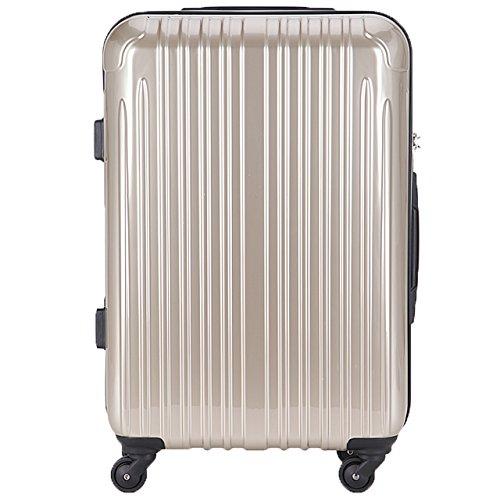 (ラッキーパンダ) Luckypanda スーツケース 超軽量 中型 TSAロック アウトレット TY001 キャリーバッグ キャリーケース かわいい キャリーバック ファスナー ハード バッグ バック 旅行かばん Suitcase Luggage amazon (M, シャンパンゴールド)