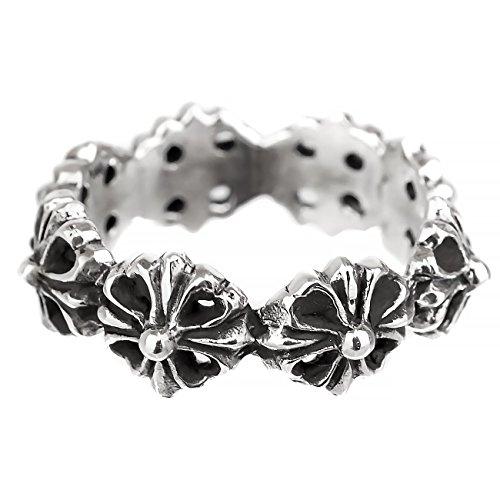 [해외]지나부린구 (JINA BRING) 핑키 링 925 워터 마크 디자인 십자가 플로랄 크로스 반지 남성/Jinabring (JINA BRING) Pinky ring 925 watermark design crosses floral cross rings men`s