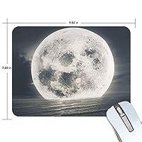 マウスパッド 月球 海 滑り止め 防塵 軽量 ゴム製裏面 ノートパソコン用 オフィス用 耐用