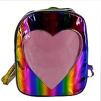 Felice Girls Hologram Laser Backpack Love Heart Daypack Rucksack Shoulder Bag
