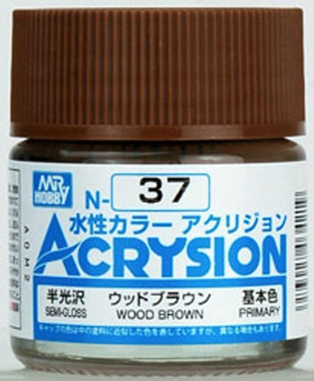 【水性アクリル樹脂塗料】新水性カラー アクリジョン ウッドブラウン N37