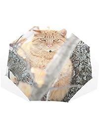AOMOKI 折り畳み傘 折りたたみ傘 手開き 日傘 三つ折り 梅雨対策 晴雨兼用 UVカット 耐強風 8本骨 男女兼用 かわいい猫 開いたら 猫がいる