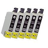 5個 セット 《 エプソン 》 EPSON IC - BK59 ( ブラック ) 互換 インク カ-トリッジ