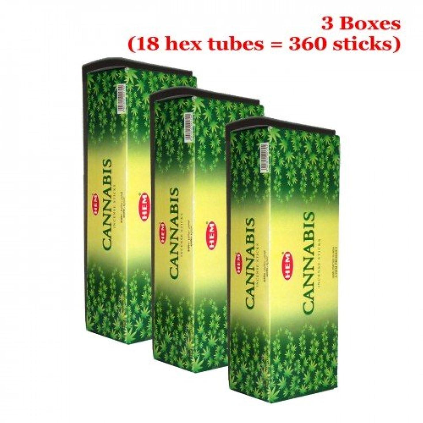 北米火死にかけているHem Cannabis 360一括Incense Sticks、3ボックス – ( 360 Sticksバルクper order )
