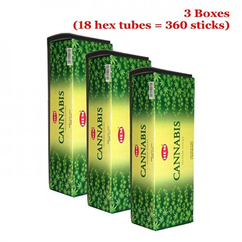 十一鉱石こしょうHem Cannabis 360一括Incense Sticks、3ボックス – ( 360 Sticksバルクper order )