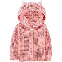 Carter's Baby Girls Button-Front Fuzzy Cardigan - 12 Months