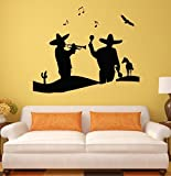 Crystal Emotion Wall Stickers Mariachi Mexico Maracas Latin America Art Mural Vinyl Decal Best Decoration For Room by Crystal Emotion [並行輸入品]