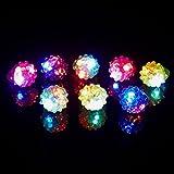(iSmile) 光る指輪 おもちゃ ピカピカ クリスマス ハロウィン パーティー に大活躍 いちご 【36個入り】