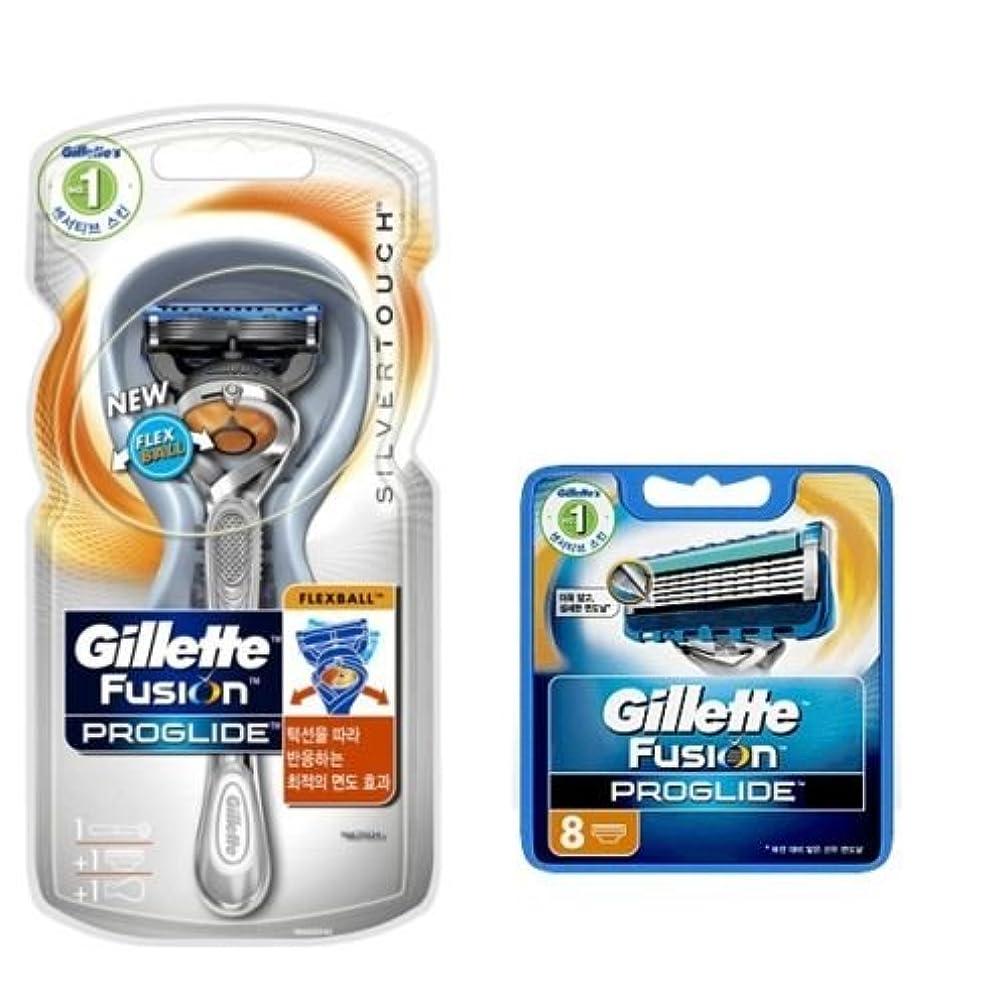 透過性修理工平和なGillette Fusion Proglide Flexball Manual SilverTouch 男子1カミソリ9カミソリ [並行輸入品]