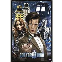 "Doctor Who–コラージュポスター24x 36with Rolledの選択、フレーム、またはPlaque 24 x 36"" ブラック 18447-PSA009386"