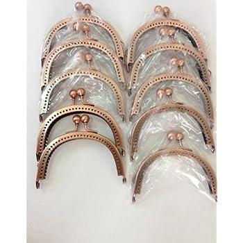 10個セット がま口金具 ピンクゴールド 横8.5cm