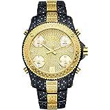 """[ジェービーダブリュー] JBW 腕時計 Men's """"Jet Setter"""" Two Tone Five Time Zone Diamond Watch 最高 標準 ファイブ タイムゾーン スイス ムーブメント JB-6213-D メンズ 【並行輸入品】"""