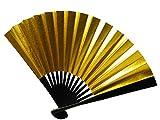 「さらさ」 金銀リバーシブル 扇子 礼装用 留袖用 末広