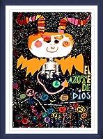 ポスター キューバ El azote de Dios/The WHIP of God 額装品 ウッドベーシックフレーム(ブルー)