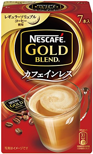 【まとめ買い】ネスカフェ ゴールドブレンド カフェインレス スティックコーヒー 7P×6箱