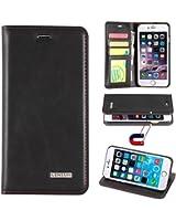 LENSUN iPhone6/6s ケース 手帳型 本革 カバー カードポケット スタンド機能 マグネット式 アイフォン6/6s用 財布型カバー