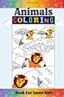 Animals Coloring Book for Smart Kids: The Big Animals Coloring Travel Size with animals' names  Bonus MAZE, WORD SEARCH, CUT & PASTE activity. Hours of fun with this Animals Coloring Book for Kids Pocket Size for children different ages 2-4, 4-8