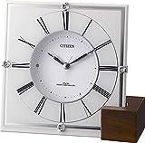 シチズン 電波 置き 掛け 兼用 時計 アナログ マリアージュ707 木製台座 白 CITIZEN 4RY707-003
