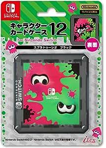 【任天堂ライセンス商品】キャラクターカードケース12 for ニンテンドーSWITCH『スプラトゥーン2 (ブラック) 』 - Switch