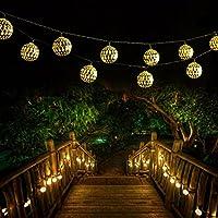 シルバー、20led :新しいホリデー照明10LED/20LEDモロッコボール文字列ガーランドライトクリスマスウェディングパーティーホーム装飾ランプ# 239757